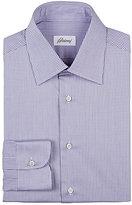 Brioni Men's Checked Cotton Dress Shirt-Purple