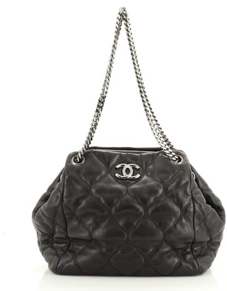 Chanel Paris-Moscow Cells Accordion Tote Quilted Lambskin Small