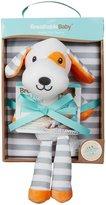 BreathableBaby Puppy Toy and Blanket- Gray/orange - Gray/Orange