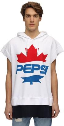 Dsquared2 X Pepsi Over Logo Cotton Pique Sweatshirt Hoodie