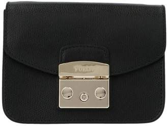 Furla Metropolis Logo Panel Mini Crossbody Bag