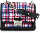 Karl Lagerfeld quilted tweed shoulder bag