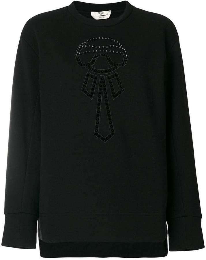 5bac63f1e32d Fendi Karlito sweatshirt - ShopStyle