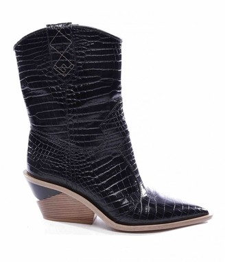 Fendi Cowboy Black Patent leather Ankle boots
