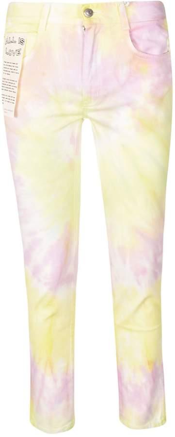 Tie-dye Print Jeans