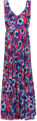 Borgo de Nor Venetia Floral-print Crepe De Chine Maxi Dress