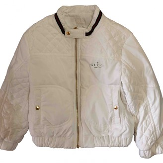 Gucci White Polyester Jackets & Coats