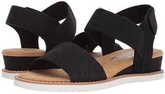 BOBS from SKECHERS Desert Kiss (Black) Women's Sandals