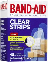 Safety First Band-Aid Comfort - Flex Clear Bandages - 45 ct