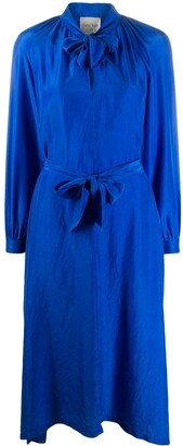 Forte Forte Tie-Waist Midi Dress