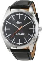 Lacoste Men's 43mm Leather Band Steel Case Quartz Analog Watch 2010888