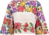 Stella Jean Floral-print cotton-poplin top