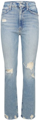 Mother Rider High Waisted Distressed Jeans