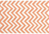 The Well Appointed House Childs Chevron Hook Rug in Tangerine