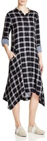 DKNY Pure Plaid Shirt Dress