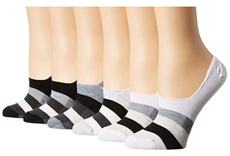 Sof Sole Varsity Stripe Footie 6-Pack (Assorted 1) Women's Crew Cut Socks Shoes