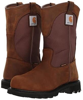 Carhartt 10 Waterproof Wellington Steel Toe (Dark Bison Oil Tanned/Carstrong Durable Fabric) Women's Work Boots