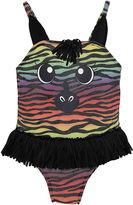 CANDLESTICKS Candlesticks Zebra Print One Piece Swimsuit Baby Girls