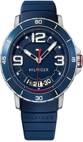 Tommy Hilfiger Sport Watch With Blue Silicon Strap