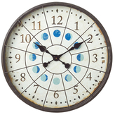 Porthole with Moon Phases Wall Clock