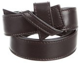 Carolina Herrera Chocolate Leather Belt