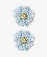 Forever 21 Bejeweled Rosette Hair Clips
