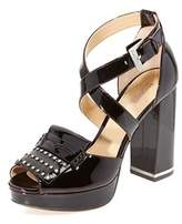 MICHAEL Michael Kors Womens Lindy Platform Leather Peep Toe Special Occasion ....