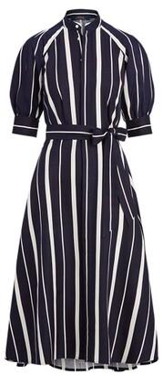 Ralph Lauren Striped Silk A-Line Dress