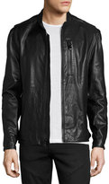 Andrew Marc Mackinley Leather Moto Jacket, Jet Black