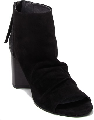 Seychelles Black Tie Peep Toe Ankle Boot