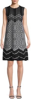 Alaia Geometric A-Line Dress