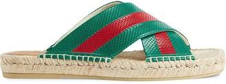 Gucci Web detail slide sandals