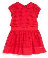 Lili Gaufrette Little Girl's Eyelet Popover Dress