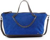 Halston Two-Tone Satchel Bag, Cobalt