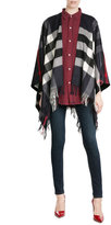 Burberry Printed Cashmere-Merino Wool Cape