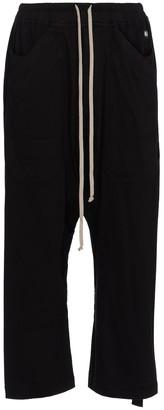 Rick Owens DRKSHDW cropped cotton sweatpants