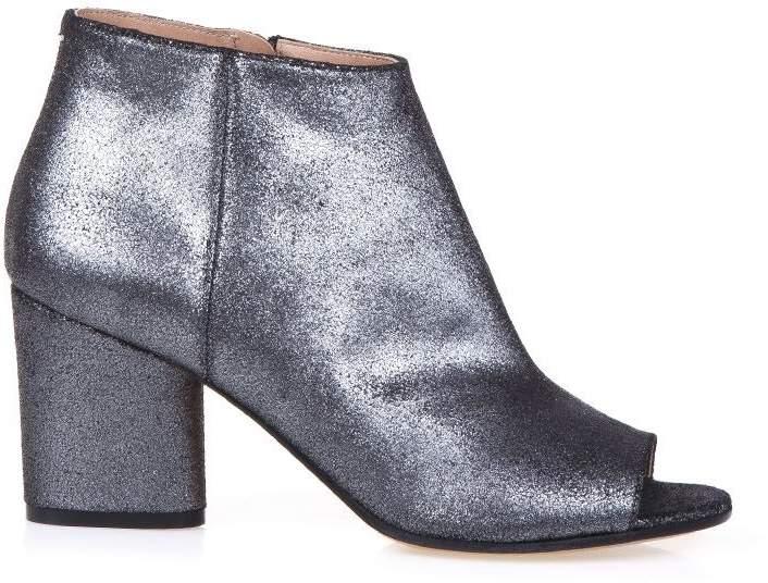 Maison Margiela Metallic Fabric Ankle Boots