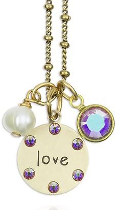 "Swarovski Anne Koplik Crystal ""LOVE"" Jumble Charm Necklace"