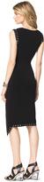 Michael Kors Grommet-Trim Fitted Dress