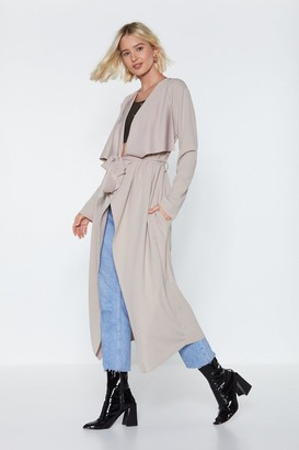 Nasty Gal Womens I Got This Duster Coat - Beige - One Size