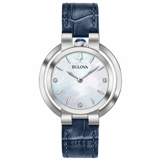 Bulova Women's Analogue Classic Quartz Watch with Leather Strap 96P196