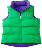 Ralph Lauren Reversible Down Full-Zip Vest, Toddler & Little Girls (2T-6X)