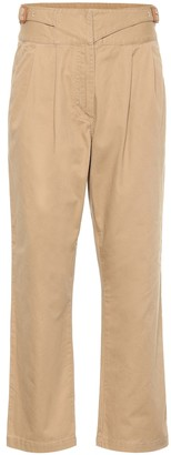 Loewe High-rise cotton cropped pants