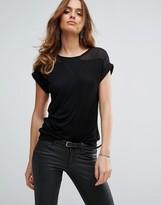 Sisley T-Shirt with Sheer Panels