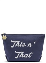Draper James This 'N That Canvas Pouch - Blue
