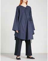 Chalayan Oversized cotton-poplin shirt dress
