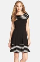 Eliza J Women's Stripe Knit Flared Dress