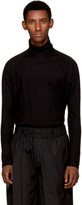 Jan-jan Van Essche Black Cotton Turtleneck