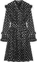 Dodo Bar Or - Metallic Fil Coupé Georgette Dress - Black
