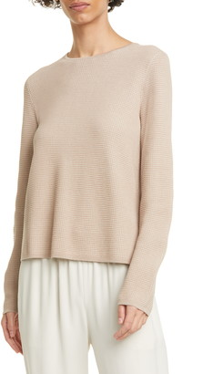 Eileen Fisher Crewneck Silk Blend Top